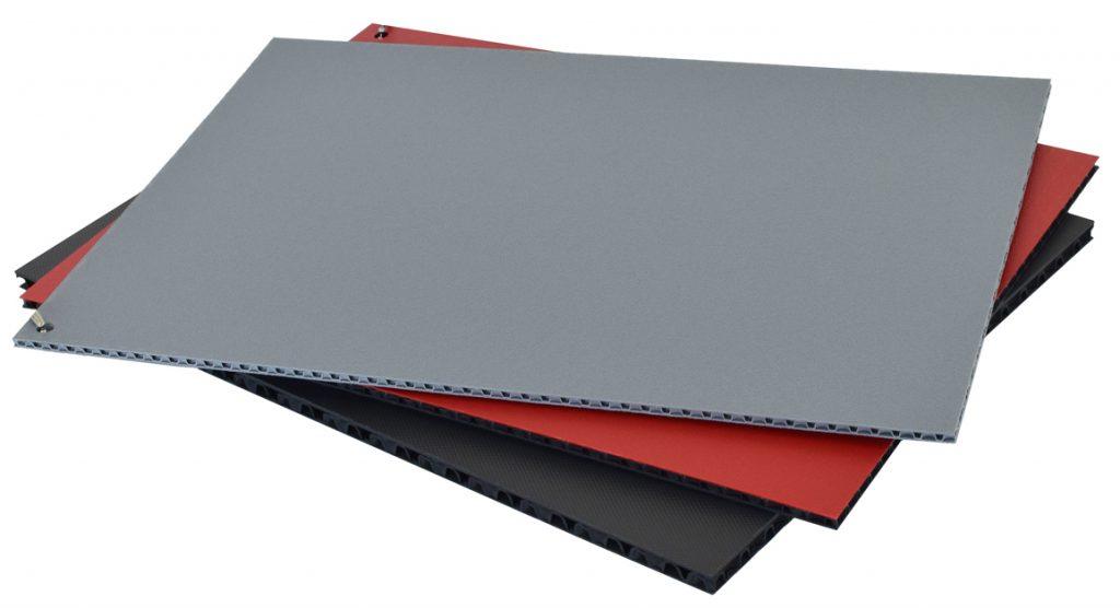 Con-Pearl Leichtbauplatten grau, rot, schwarz