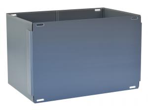 Palettenbox-Behälterring, lange Seite offen, Platte überlappt