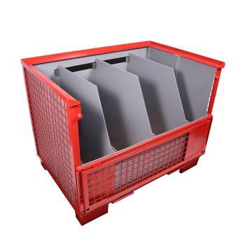 Gitterboxauskleidung und Unterteilung