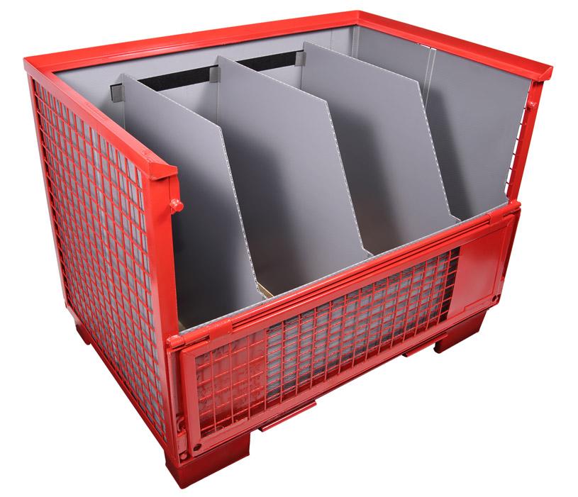 Gitterboxauskleidung Unterteilung