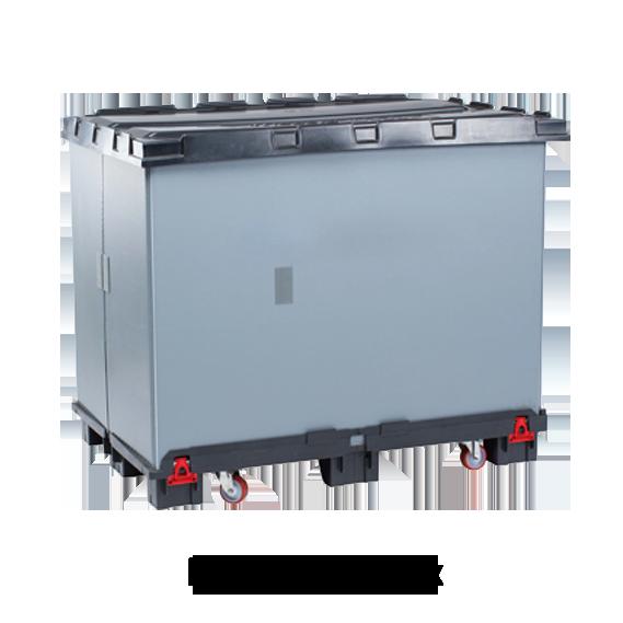 Großbehälter mit Rollen und Deckel: Light ROLL Box