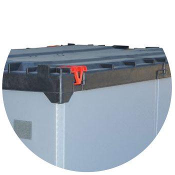 Palettenbehälter Light FLOW Box Klappriegel