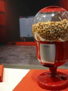 Con-Pearl booth: nut dispenser